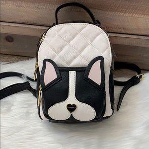 Betsey Johnson French bulldog mini backpack